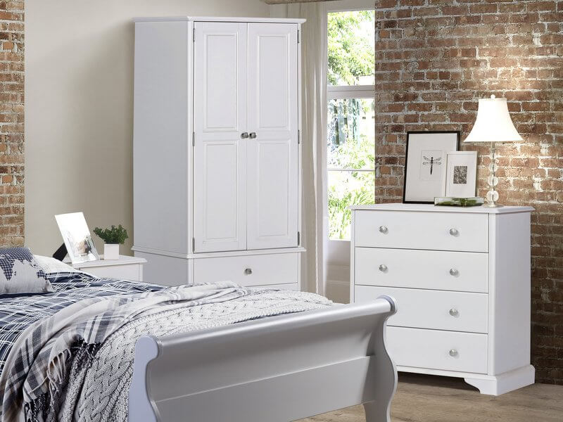 quality design 6ac5e 7c452 Arabella White Painted 3 + 3 Drawer Wide Chest